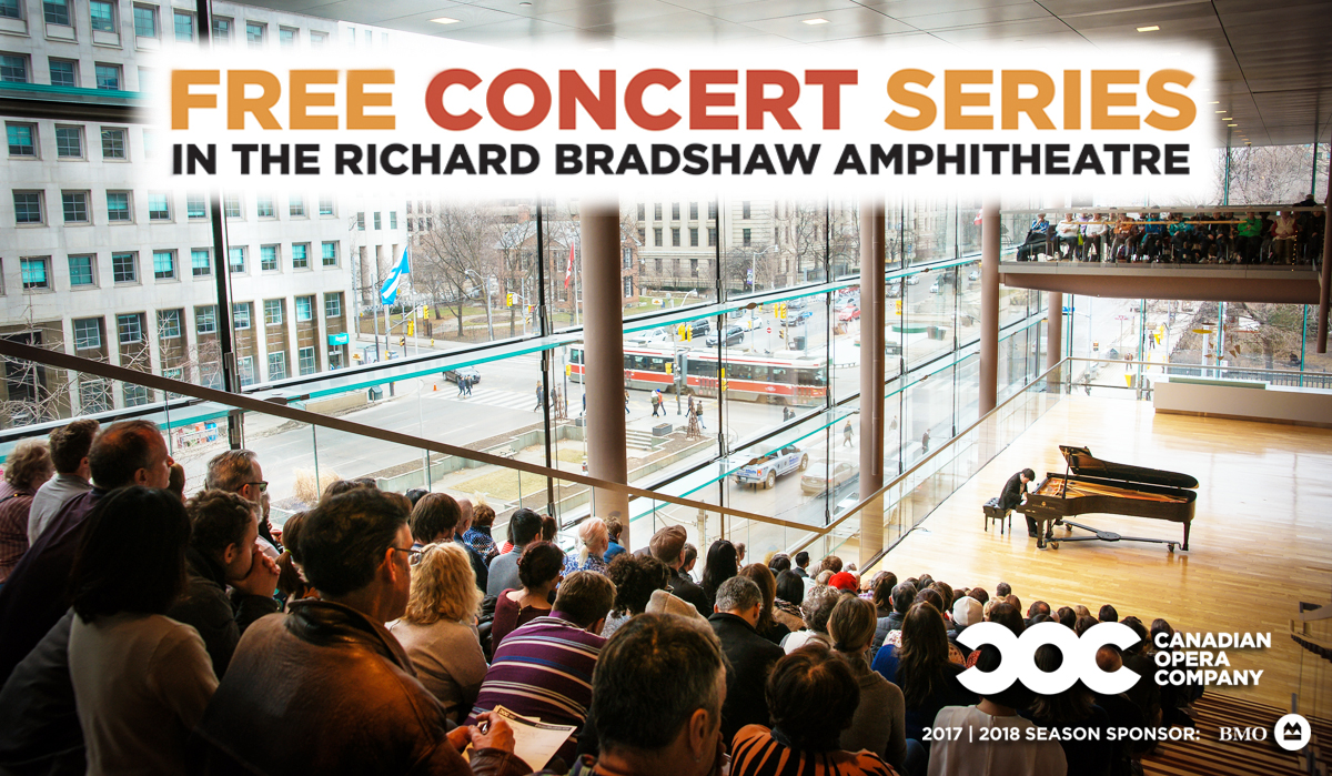 Free Concert Series in the Richard Bradshaw Amphitheatre